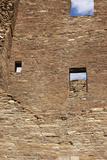 Ruins of Pueblo Bonito, an Anasazi/Ancestral Puebloan Site in Chaco Canyon, New Mexico Lámina fotográfica
