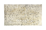 Meriwether Lewis's Letter Inviting William Clark to Join Expedition to Explore Louisiana Territory Giclee Print