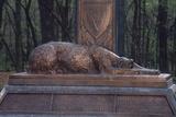 Irish Wolfhound on the Monument to NY's Irish Brigade, Little Round Top, Gettysburg Battlefield Photographie
