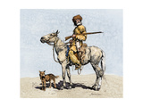 Old Trapper in the American West, 1800s Giclee Print