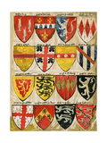 Shields of English Knights and Barons, Painted During the Reign of Edward Iii Giclée-Druck