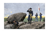General G. K. Warren at the Signal Station on Little Round Top, Battle of Gettysburg, 1863 Reproduction procédé giclée