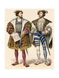 Henri Ii, King of Navarre (Left); and Claude De Lorraine, Duke of Guise, 1500s Giclee Print