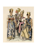 Performers of Java in Traditional Costumes Giclee Print