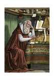 Saint Jerome Translating the Bible into Latin, known as the Vulgate Giclee Print