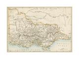 Map of Victoria, Australia, 1870s Giclee Print