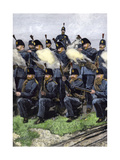 Queen's Edinburgh Rifle Volunteer Brigade at Training Camp, Scotland, 1880s Giclee Print