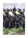 Queen's Edinburgh Rifle Volunteer Brigade at Training Camp, Scotland, 1880s Giclee Print