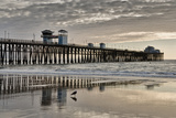 Pier Sunset 2 Photographic Print by Lee Peterson