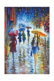 Walking in Rain III Giclee Print by Stanislav Sidorov