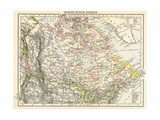 Map of British North America, or the Dominion of Canada, 1870s Giclee Print