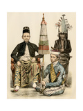 Regent of Java, His Bodyguard, and an Attendant, 1800s Giclee Print