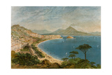 Bay of Naples in the Mid-1800s Giclee Print