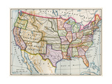 United States and Territories at the Beginning of the Civil War Giclee Print