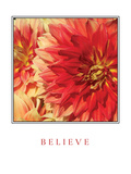 Believe Flowers Photographic Print by Maureen Love