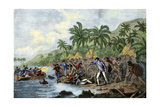 Death of English Explorer Captain James Cook in the Sandwich Islands (Hawaii), 1779 Giclee Print