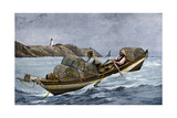 Lobster Fishermen in the Grand Manan Channel Between Maine and New Brunswick, 1890s Giclee Print