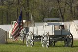 Wagons in a Civil War Camp Reenactment, Shiloh National Military Park, Tennessee Photographic Print