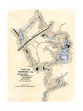 Montresor's Map of Inland Maine, Used for Arnold's March to Quebec, 1775 Giclee Print