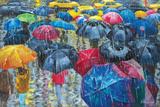 Colorful Umbrellas Prints by Stanislav Sidorov