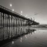 Pier Night Square II Photographic Print by Lee Peterson