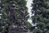 Statue of Sacagawea Guiding Lewis and Clark at Fort Benton, Montana Photographic Print