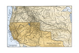 Mexican Possessions and Western US Territories in the 1840s Giclee Print