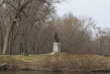 Minuteman Statue by the Concord River in Minuteman National Historical Park, Concord, MA Photographic Print