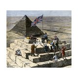 British Tourists Having Christmas Lunch on the Great Pyramid, 1870s Giclee Print