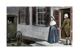George Washington and His Wife Martha Saying Farewell to Guests at Mount Vernon Giclee Print