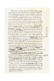 Draft of the Declaration of Independence in Jefferson's Handwriting, Page 4 Giclee Print