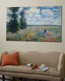 Feild of Poppies Kunst av Claude Monet