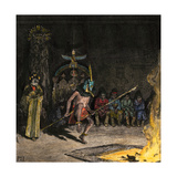 Shalako Leading a Ceremony at Night, Zuni Pueblo, New Mexico, 1800s Giclee Print