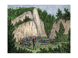 Captain Mason's Militia Camped Near Porter's Rocks, Groton, Connecticut, in the Pequot War, 1630s Giclee Print