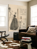 1950's Fashion - English Clothes Plakater av Odette Lafontaine