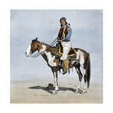Comanche Brave on Horseback, 1800s Giclee Print