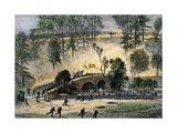 Union Charge across Burnside Bridge over Antietam Creek, Civil War, 1862 Giclee Print