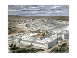 Temple and the City of Jerusalem When Part of the Roman Empire, About the Time of Jesus Giclee Print
