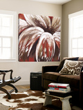 Red Daisy Print by Nathalie Poulin