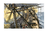 "Deckhands in Action on the USS ""Constitution"" Against the ""Levant and Cyane,"" War of 1812 Giclee Print"