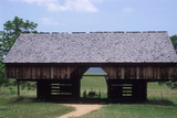 Wagon in a Cantilevered Barn, Cades Cove, Great Smoky Mountains National Park, Tennessee Photographic Print