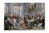 European Statesmen Meeting at the Congress of Vienna to Close the Napoleonic Wars, 1815 Giclee Print