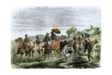 General Early's Cavalry Taking Livestock from Farmers During Confederate Invasion, Maryland, 1864 Reproduction procédé giclée
