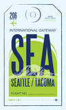 SEATAC Sérigraphie par Mike Klay