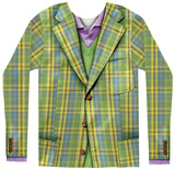 Long Sleeve: Plaid Suit T-shirty