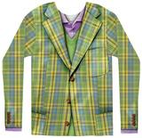 Long Sleeve: Plaid Suit - Tişört