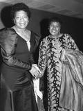 Maya Angelou, LaWanda Page 1988 Photographic Print by Maurice Sorrell