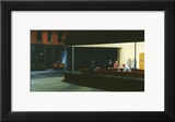 Nightawks, noctambules ou les oiseaux de nuit, 1942 Estampe encadrée par Edward Hopper