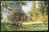 The Parc Monceau, Paris, c.1876 Innrammet lerretstrykk av Claude Monet