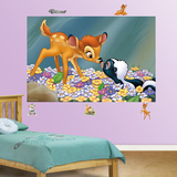 Bambi & Flower the Skunk Mural Wall Decal